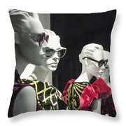 People - Mannequins Throw Pillow
