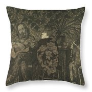 Three Persons Throw Pillow
