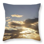 People Silhouette Sunset Throw Pillow