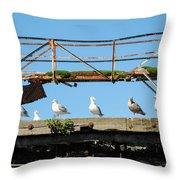 People Watchers Throw Pillow