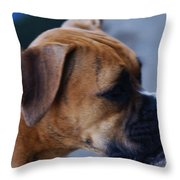People Watching Throw Pillow by Linda Shafer
