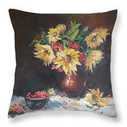 Still-life With Sunflowers Throw Pillow