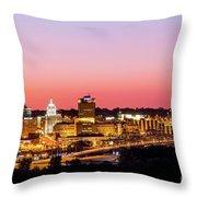 Peoria Downtown Throw Pillow