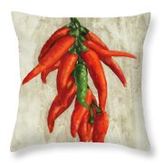 Peperoncini Piccanti Throw Pillow