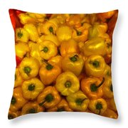 Pepper Colors Throw Pillow