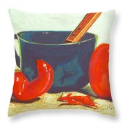 Pepper Harvest Throw Pillow