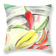 Pepper Play Throw Pillow