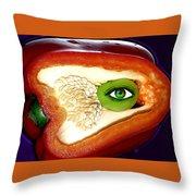 Pepper Watcher Throw Pillow