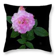 Peppermint Rose1 Cutout Throw Pillow