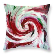 Peppermint Stick  Throw Pillow