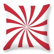 Peppermint Swirl Throw Pillow