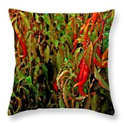 Peppers - Red Throw Pillow