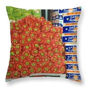 Peppers And Clementines Throw Pillow