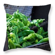 Peppers Roasting. Throw Pillow