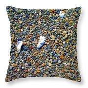 Pepples On The Beach Throw Pillow