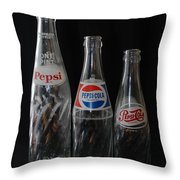 Pepsi Cola Bottles Throw Pillow