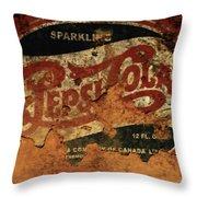 Pepsi Cola Vintage Sign 5b Throw Pillow