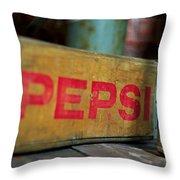 Pepsi Crate Throw Pillow