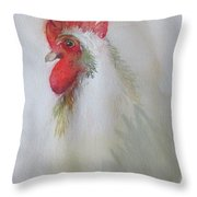 Pequot The Rooster Throw Pillow