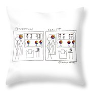 Perception And Reality Throw Pillow