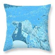 Perch Blue Throw Pillow
