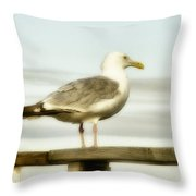 Perch By The Water Throw Pillow