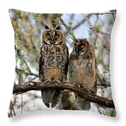 Perched And Posing Throw Pillow
