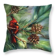 Perched High Throw Pillow
