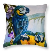 Perched In Paradise Throw Pillow