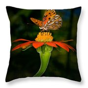Perched On A Blossom  Throw Pillow