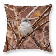 Perching On A Winter's Day  Throw Pillow
