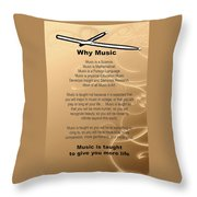 Percussion And Drums Why Music Picture Or Poster 4826.02 Throw Pillow