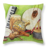 Percussion Throw Pillow