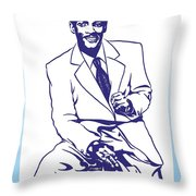 Percy Mayfield Throw Pillow