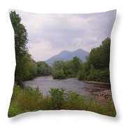 Percy Peaks From Northside Rd Throw Pillow