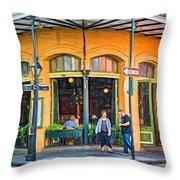 Pere Antoine Restaurant - Paint Throw Pillow