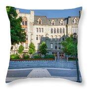 Perelman Quadrangle - University Of Pennsylvania Throw Pillow