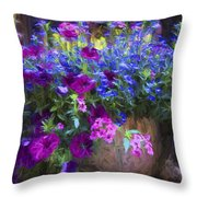 Perennial Flowers Y2 Throw Pillow