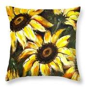 Perfect Beauty Sunflower Throw Pillow