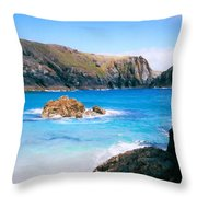 Perfect Blue Water Throw Pillow
