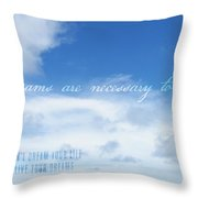 Perfect Day Quote Throw Pillow