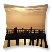 Perfect Day To Fish Throw Pillow