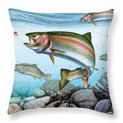Perfect Drift Rainbow 2 Throw Pillow