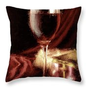 A Perfect Glass Of Wine Throw Pillow
