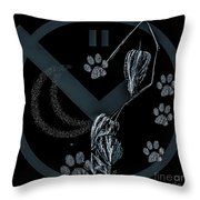 Perfect Imperfect Bw Throw Pillow