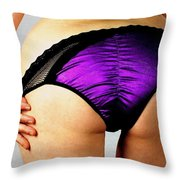 Perfect In Purple Throw Pillow