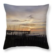 Perfect Pier View 4 4/10 Throw Pillow