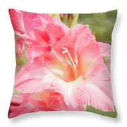 Perfect Pink Canna Lily Throw Pillow