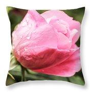 Perfect Pink Rose Throw Pillow