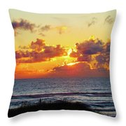 Perfect Sunset Cannon Beach I Throw Pillow